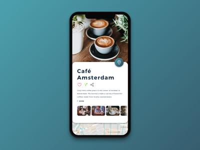 Coffee locator coffee bar user interface app ui ui design iphone x app design coffee amsterdam layout ui sketch