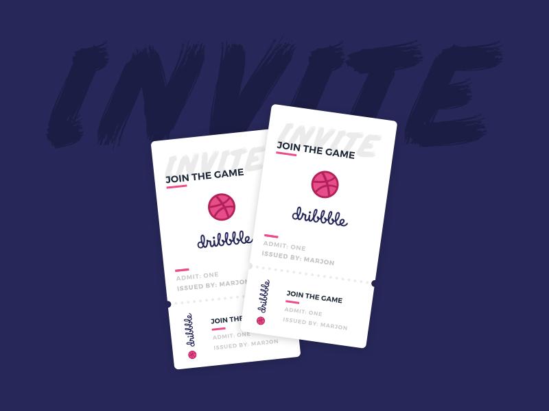Dribbble invites! dribbble invite prospect ticket invite dribbble