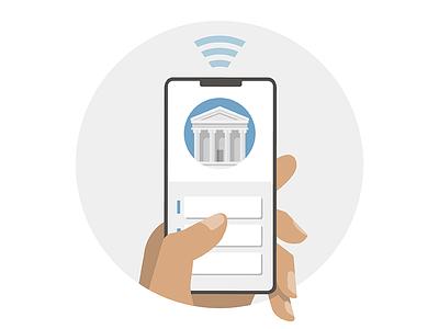 Mobile Wallet & Online-Banking product design design ed tech vector illustration