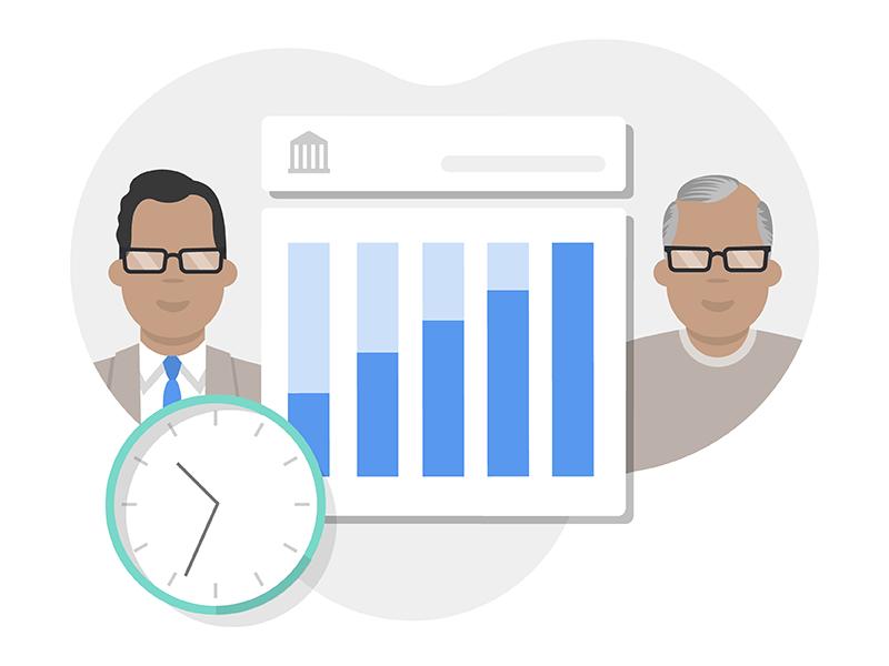 401(k) Illustration retirement taxes chart finacial character design product design illustration