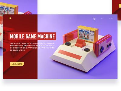 3D游戏机Web home logo branding typography ui environment icon ux app illustration design