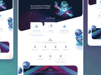Artificial Intelligence web homepage 人工智能 web animation medal ui typography logo branding ux illustration environment design