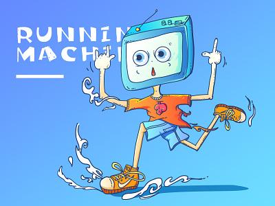 Running machine boy boy machine running