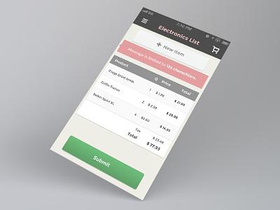 Mobile List app shopping mobile list ui iphone