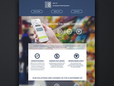 Aisle18 Website  homepage website branding mobile aisle18 icons landing page