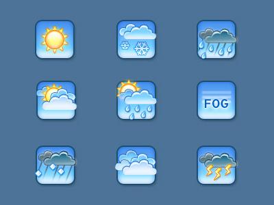 Weather Icons snow icons weather sunny fog overcast illustration weathericons