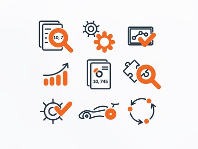 Data Systems Icons icons illustration line outline flat rostmoff