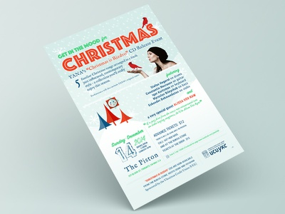 Get in the mood for Christmas christmas poster typography illustration rostmoff holiday magic