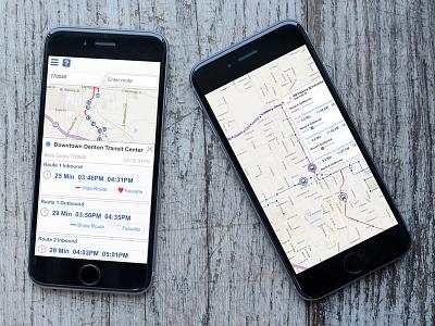 Transit Prediction Web App UI web app mobile transit prediction ui ux