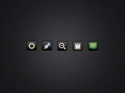 Dark UI Buttons icons buttons settings dark gray