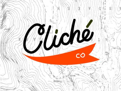 Cliche Co logo illustration twinbull