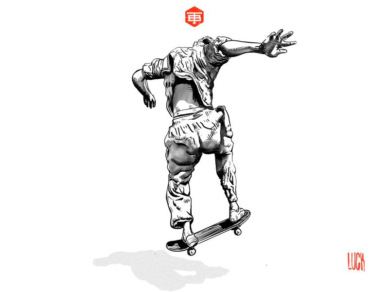 TWNBLL SKATE tylerluck tylerluck photoshop procreate logo character design twinbull illustration