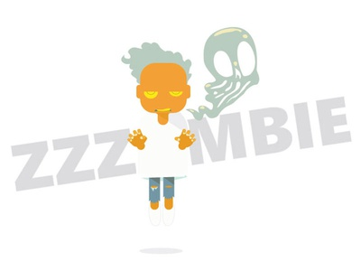 Zzzombie twinbull illustration