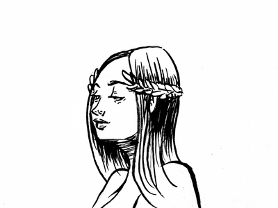 Reset. ink  brush illustration twinbull