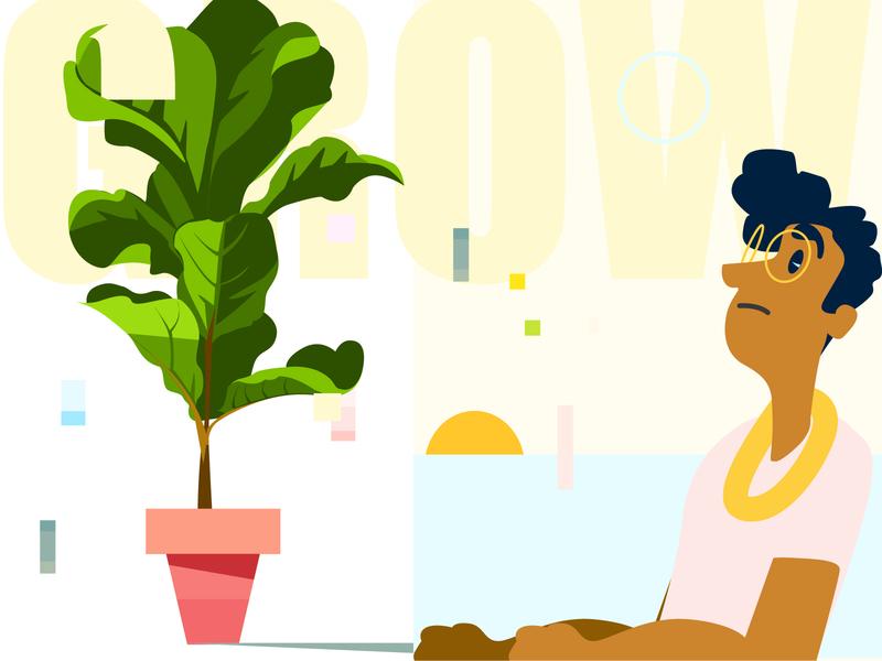 Growth illustration twinbull
