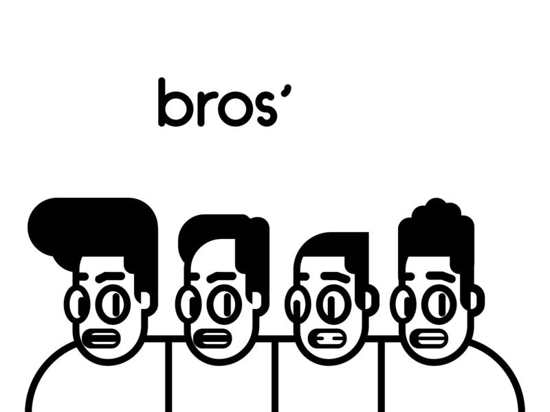Bros' character design illustration twinbull