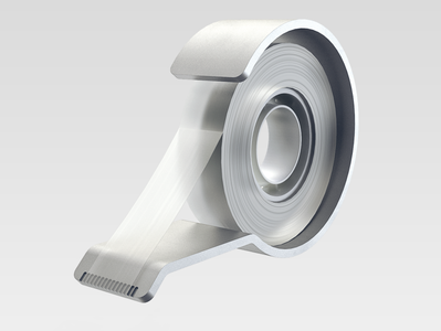 Aluminium Tape Dispenser solidworks aluminio keyshot render dispenser tape aluminum