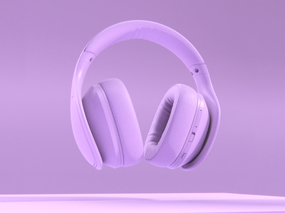 Level over samsung Mauve mauve level overlay headphones samsung logo branding concept illustration keyshot digital design render