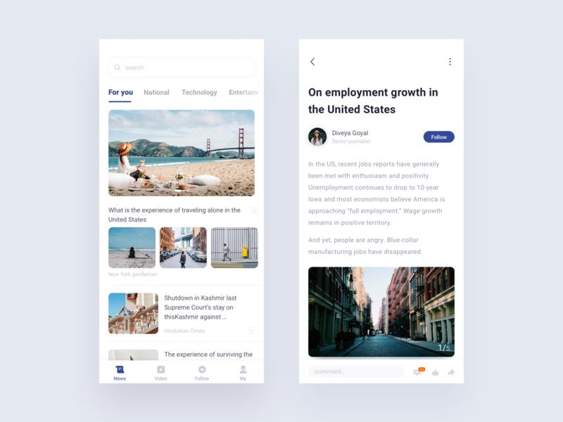 news ux design kit news ui app clean ios