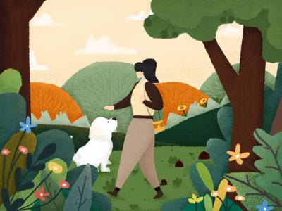 In the spring app clean design illustration photo ui