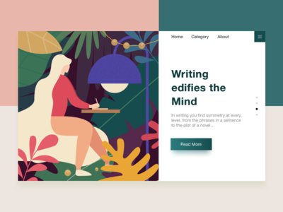 write  illustrations white mind color kit ios website writing app ui illustration