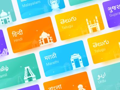 illustration card building india card ios color illustration app kit clean ui