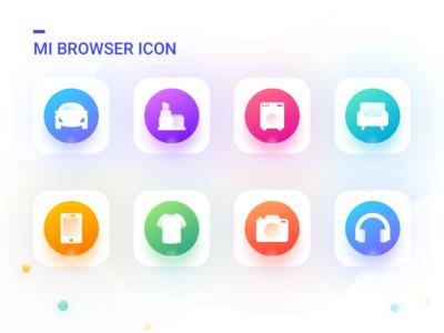 shopping icon heaset furniture ear car iphone clothes shopping icon design color app ui