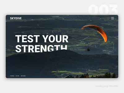 Daily #003 skydive 003 daily ui landing page