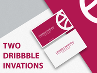 Two dribbble invations