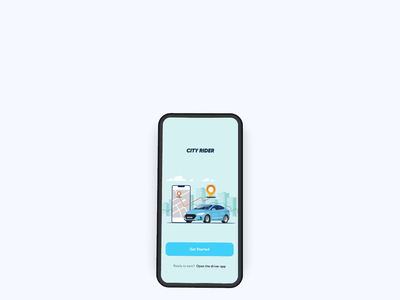 Ride Sharing App Interaction minimal search app design appdesign mobile ios map modern clean 2020 trend share ride ux ui taxi rideapp rideshare mobile app