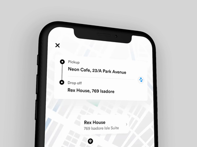 Ride Sharing App Interaction project animation interaction product design concept web ios ux userinterface uidesign ui booking taxi rideshare uber sharing ride designer app 2020