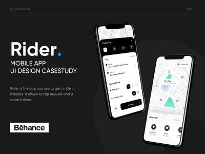 Ride Share App Design Casestudy mobile app booking taxi rideshare ui design ui casestudy ride share