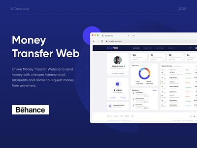 Online Money Transfer Website - UI/UX Casestudy online recieve international casestudy website transfer send remittance money