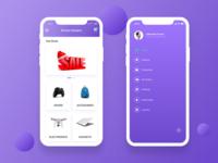 "Ecommerce App - ""Category & Sidemenu"" Screen"