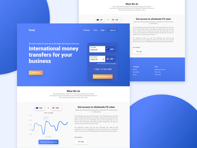 How To Track A Wire Transfer | International Money Transfer Website Homepage Design By Dibbendo