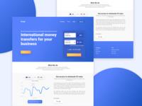 International Money Transfer Website- Homepage Design