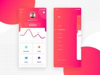 Financial App- Dashboard and Sidemenu Exploration