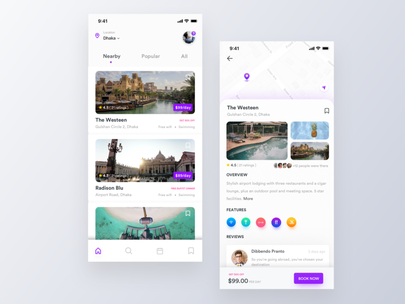 Hotel Booking App iphonex ux ui mobile app design mobile application financial app illustration fintech cryptocurrency app colorful clean budget planner app booking app best design app designer app concept app analytical dashboard