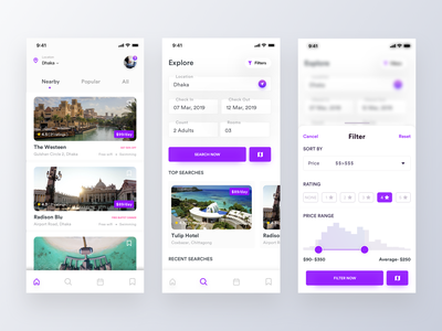 Hotel Booking_Filter and Search Screen design clean illustration analytics dashboard popular trip filter find book best design app design hotel booking hotel mobile ui app