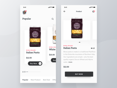 Groccery Product App design