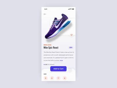 Nike Shoe App Interaction