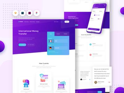 International Money Transfer Website Design