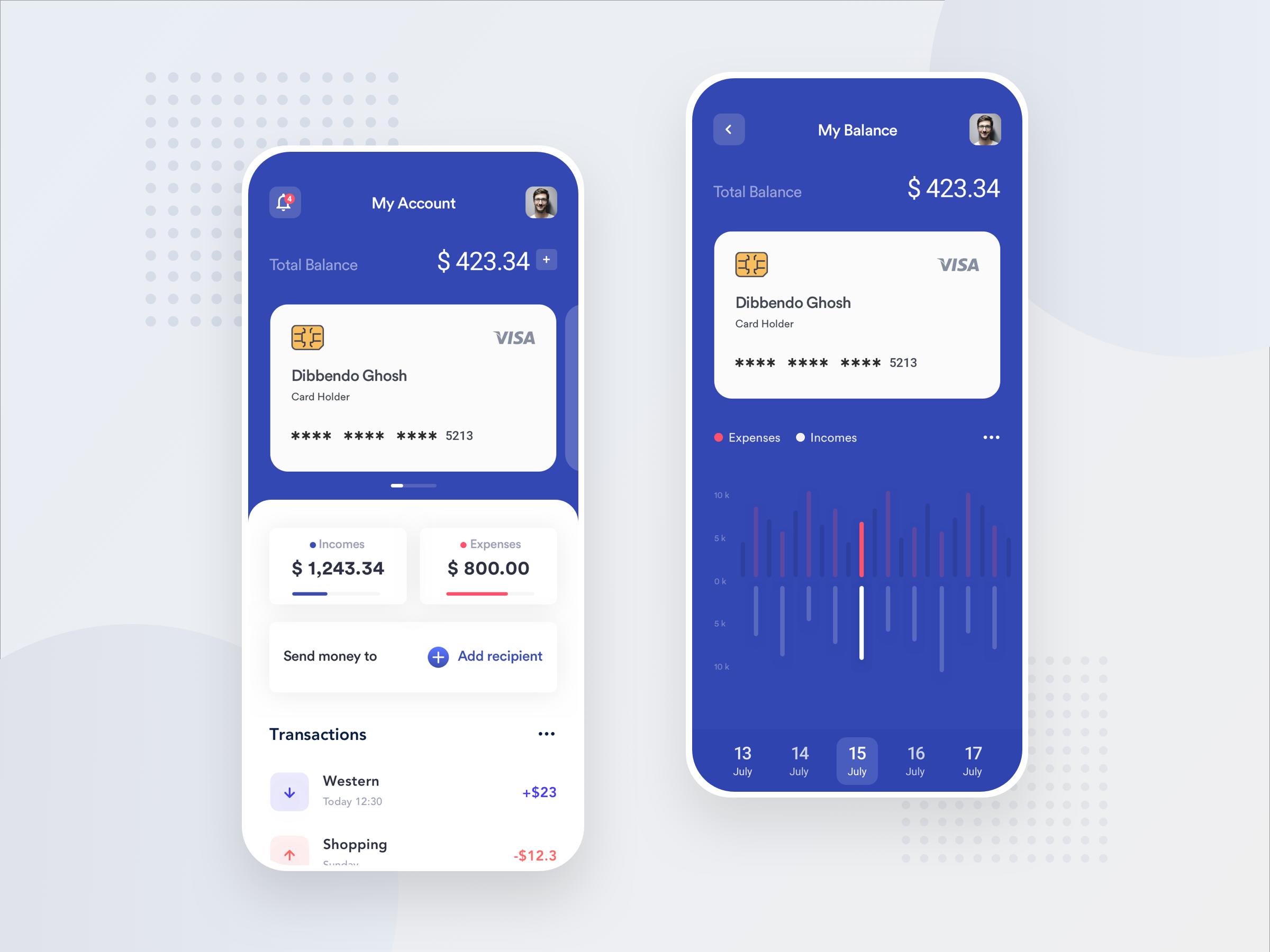 App Di Design financial ios app design by dibbendo pranto ✪ on dribbble