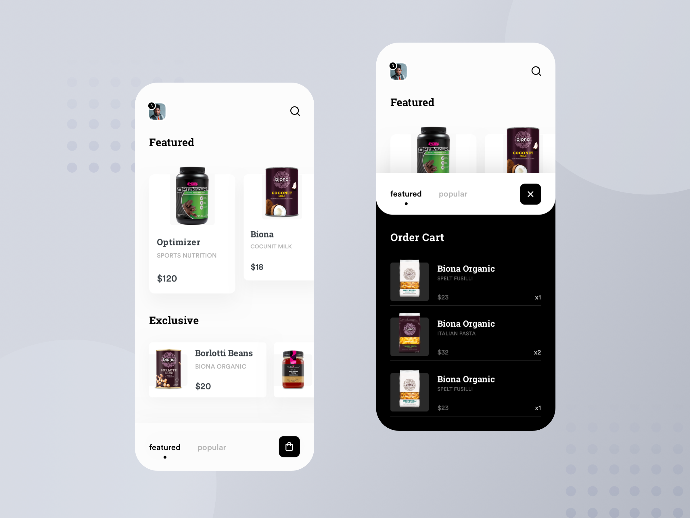 Dribbble grocery app dibupranto