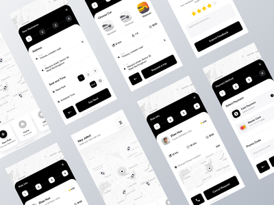 Ride Sharing App Design typography texi service app taxi booking app taxi app ride sharing app ride booking screen onboarding best logo ios gradient dribbble debut dribbble best shot dribbble car booking app booking app cab apple app design android