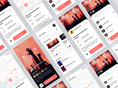 Event App Design event best ui designer designer music ios ux ui app trend clean booking ticket concert event app trend 2020
