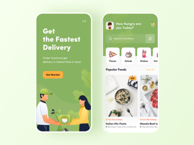 Food App- Onbarding and Discover