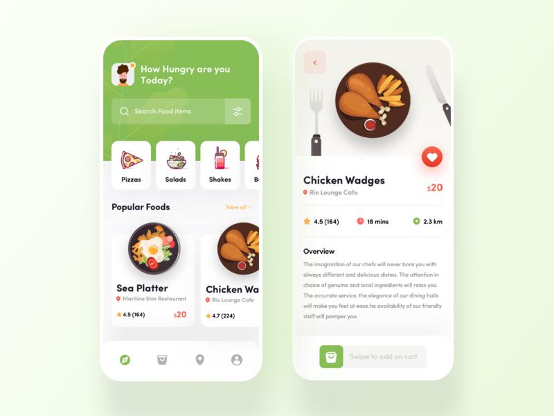 Food App Design shop find restaurant discover food app color cart favourite location search best uidesigner ui clean trend 2020 delivery app food retaurant