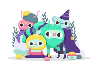 Wizardly friends cartoonist cartoon doodle pictoplasma illustration contemporary vector illustration vector illustrator designer character design character