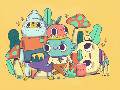 Weird friends draw contemporary illustration contemporary design contemporary designer creative drawing doodling doodles doodle pictoplasma character design character art pixel art photoshop adobe illustrator illustration illustrator illustrate